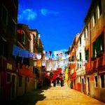 linge aux fenêtres dans la Venise des Vénitiens