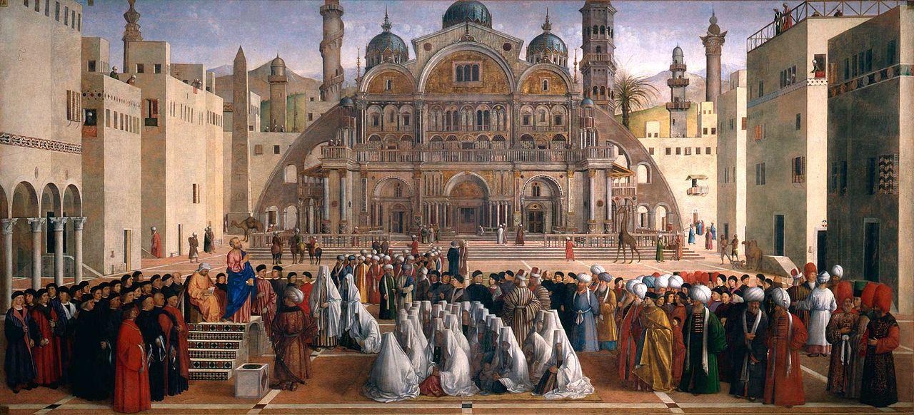 Venise Orientale Tableau de Bellini Sermon de S.Marc