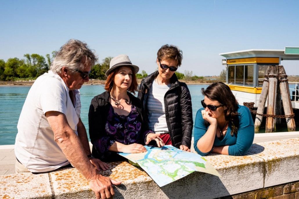 En famille à Venise lagune