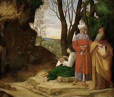 tableau Giorgione les trois philosophes